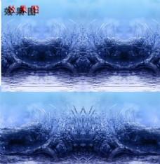 特效蓝色淡雅唯美背景视频素材