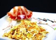 桂花炒蟹肉