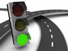 道路和信号灯图片