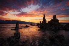 美丽海岸黄昏美景图片
