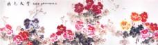 红花国画图片
