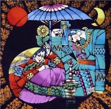 中国风人物装饰画