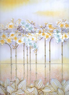 花瓣浮雕背景墙