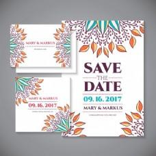 婚礼邀请与花卉装饰细节