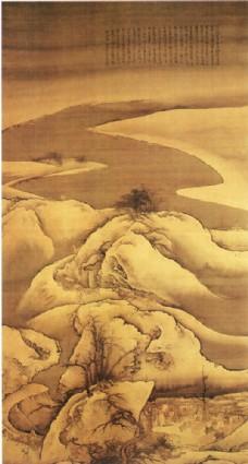 风景书画背景图片