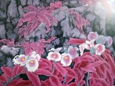水墨鲜花国画图片