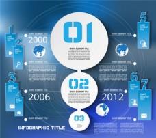 蓝色地图信息图表图片