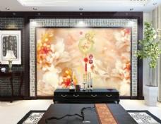 中国风玉石雕刻时尚电视背景墙设计