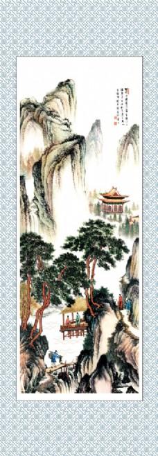 风景国画挂轴图片