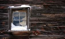 老旧的木制窗户图片