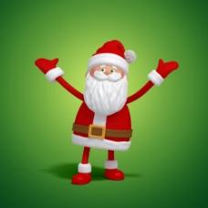 张开双臂的圣诞老人图片