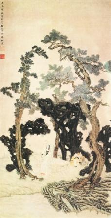 树下人物图
