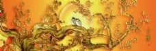 金色树枝装饰画