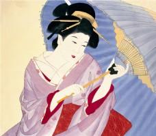 日本舞妓装饰画