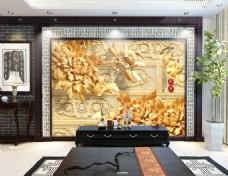 浮雕元素背景墙