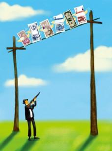 金融商业漫画图片