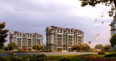 公寓小区建筑透视图片
