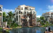 别墅园林建筑设计图片