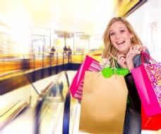 快乐的购物美女图片