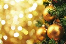 圣诞球梦幻背景图片