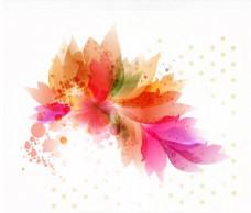 彩色花卉艺术与泡沫和点