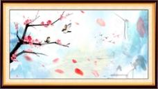 玫瑰花中堂画
