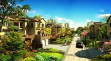 别墅小区道路景观设计图片