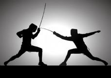 击剑运动图片