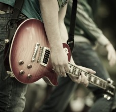 吉他手摄影图片