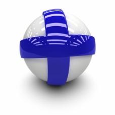 芬兰国旗球体图片