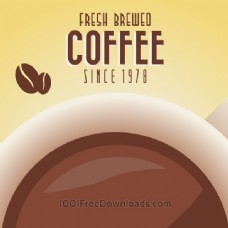 老式咖啡背景与排版