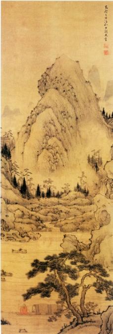 松溪渔笛图装饰画