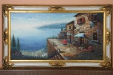 风景装饰油画图片