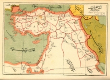 西亚地图图片
