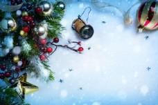 圣诞装饰品背景素材图片