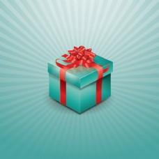 包裹在恒星背景的礼品盒