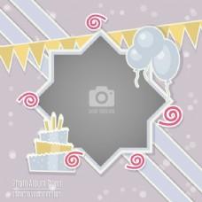 带框架的生日卡