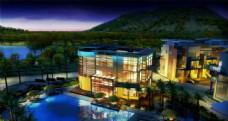 建筑夜景景观设计图片