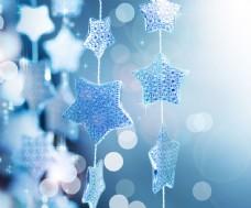 蓝色五角星背景图片