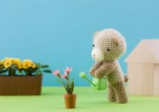 可爱礼物小熊图片