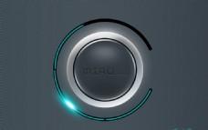 音量旋钮圆形按钮