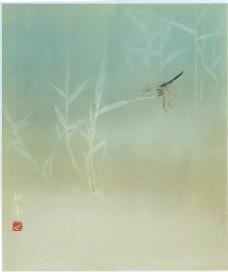 蜻蜓国画图片