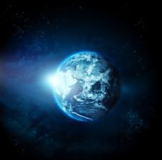浩瀚太空中的地球图片