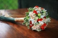 美丽玫瑰花束摄影图片