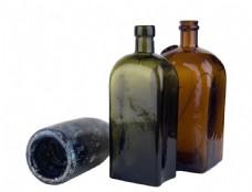 怀旧玻璃瓶图片