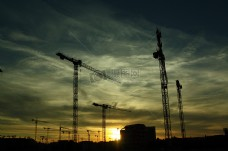 建设,起重机,建设,施工,工地,公共领域,图像