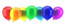 彩色气球背景图片