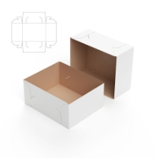简易型包装盒展开图图片