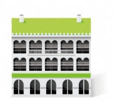 立体建筑图标