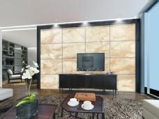 大理石瓷砖背景墙设计